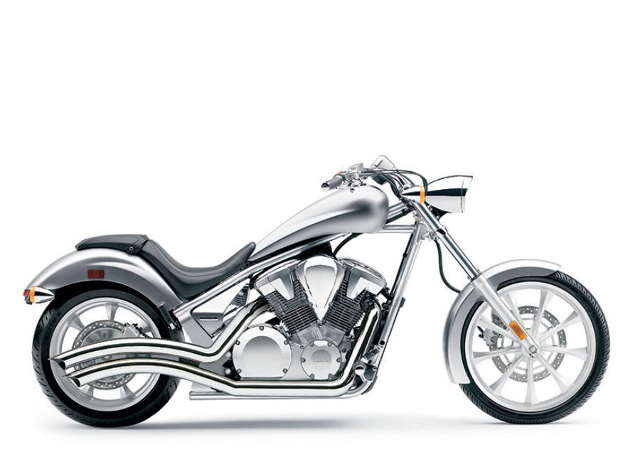 Speedster Swept Exhaust with Chrome Finish. Fits Honda Fury, State-Line & Sabre 2010up Models.
