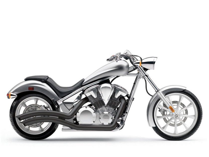 Speedster Swept Exhaust with Black Finish. Fits Honda Fury, State-Line & Sabre 2010up Models.