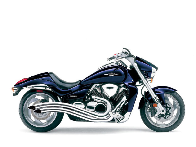 Speedster Swept Exhaust - Chrome. Fits Suzuki M109R 2006up.