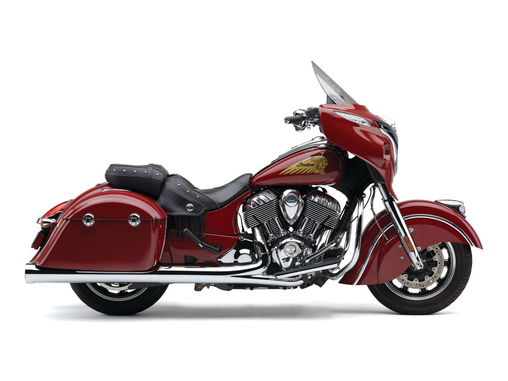 4in. Slip-On Mufflers - Chrome. Fits Indian Big Twin with Hard Saddle Bags.