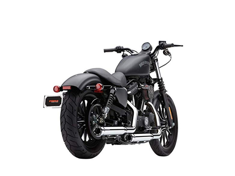 3in. RPT Slip On Mufflers - Chrome with Black Tips. Fits Sportster 2014up.