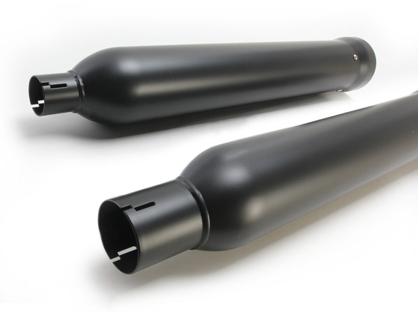 4in. Neighbor Hater Slip-On Mufflers - Black. Fits Touring 2017up.