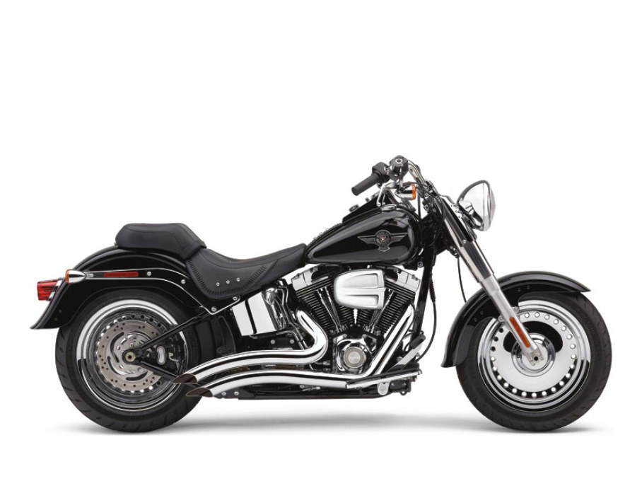 Chrome Speedster Short Swept Exhaust. Fit Softail 1986-2017