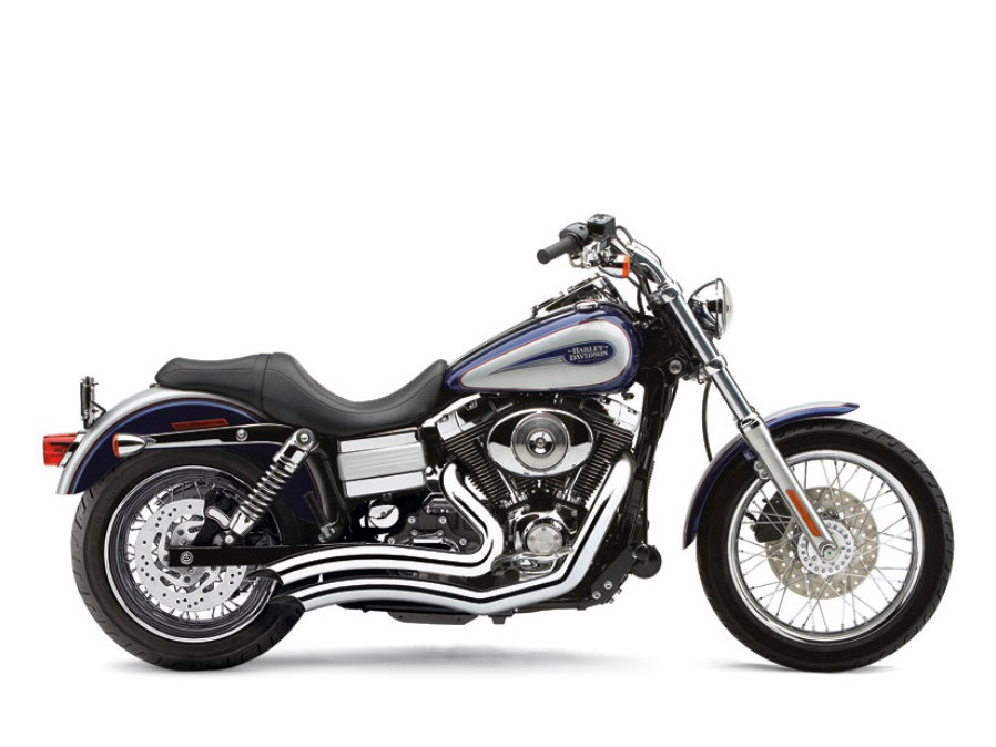Chrome Speedster Short Swept Exhaust. Fit Dyna 2006-2017