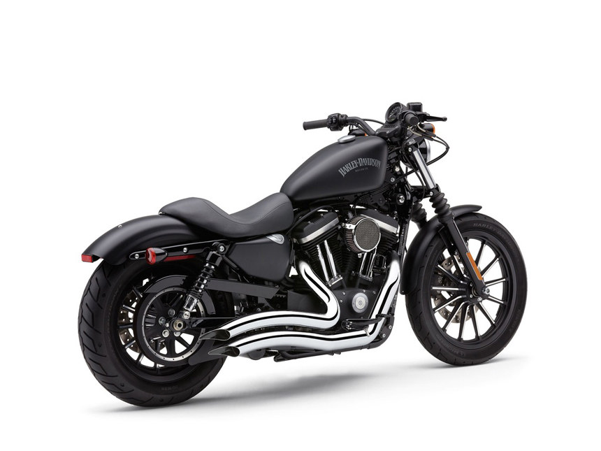 Speedster Swept Exhaust with Chrome Finish. Fits Sportster 2014up.