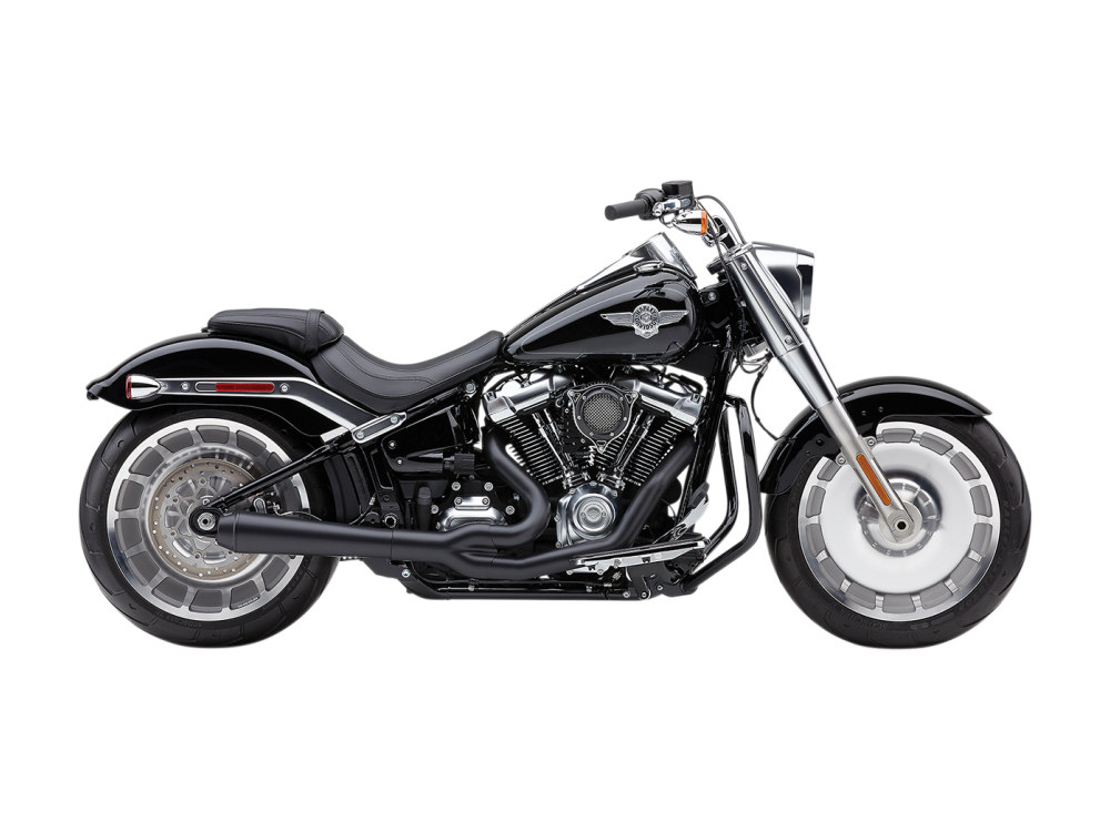 El Diablo 2-into-1 Exhaust - Black with Black End Cap. Fits Breakout & Fat Boy 2018up & FXDR 2019up.