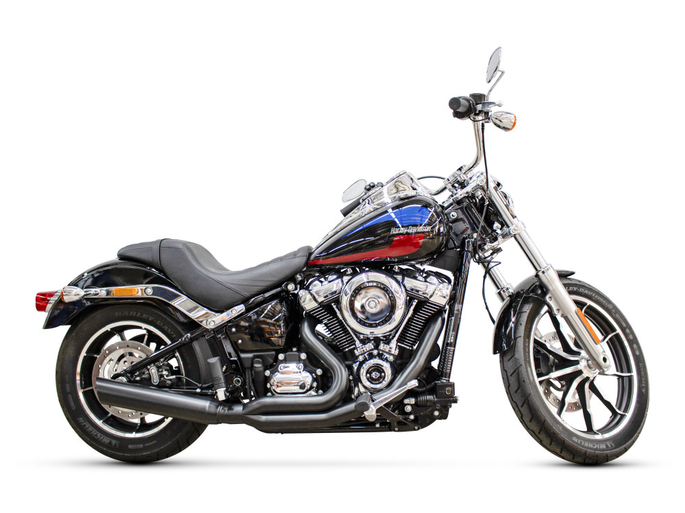 Low Cat 2-into-1 Exhaust - Black. Fits Softail 2018up.  </P><P>