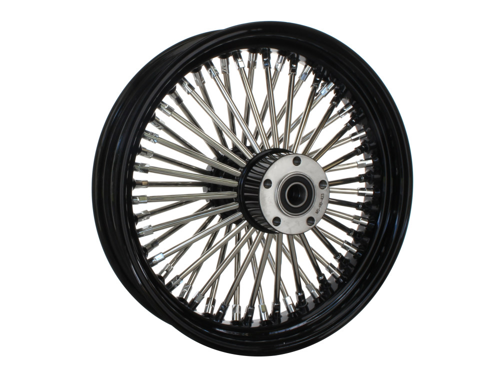 16in. x 3.5in. Rear Mammoth 52 Fat Spoke Wheel – Gloss Black & Chrome. Softail 2011up.