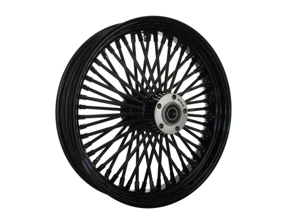 18in. x 3.5in. Rear Mammoth 52 Fat Spoke Wheel – Gloss Black. Fits Softail 2011up.