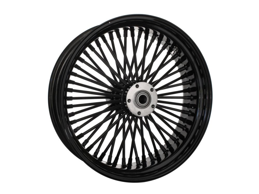 18in. x 5.5in. Rear Mammoth 52 Fat Spoke Wheel – Gloss Black. Fits Softail 2011up.