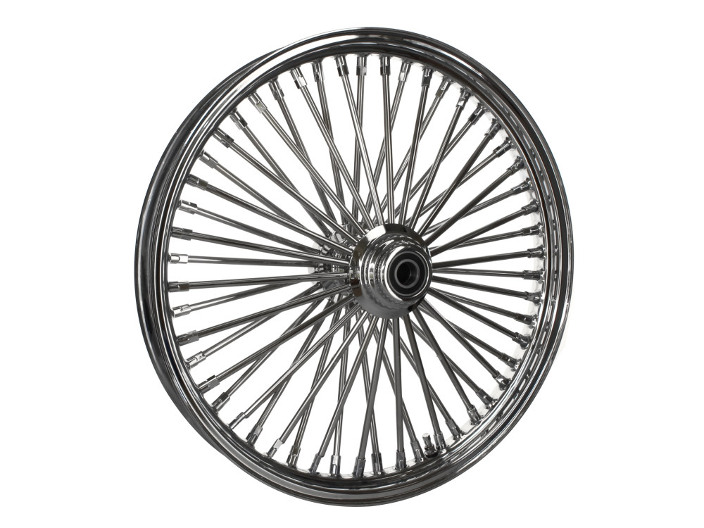 21in. x 2.15in. Front Mammoth 52 Fat Spoke Wheel – Chrome. Fits FX Softail 2011-2015.