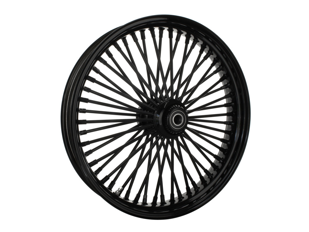21in. x 3.5in. Front Mammoth 52 Fat Spoke Wheel – Gloss Black. Fits FL Softail 2011up.