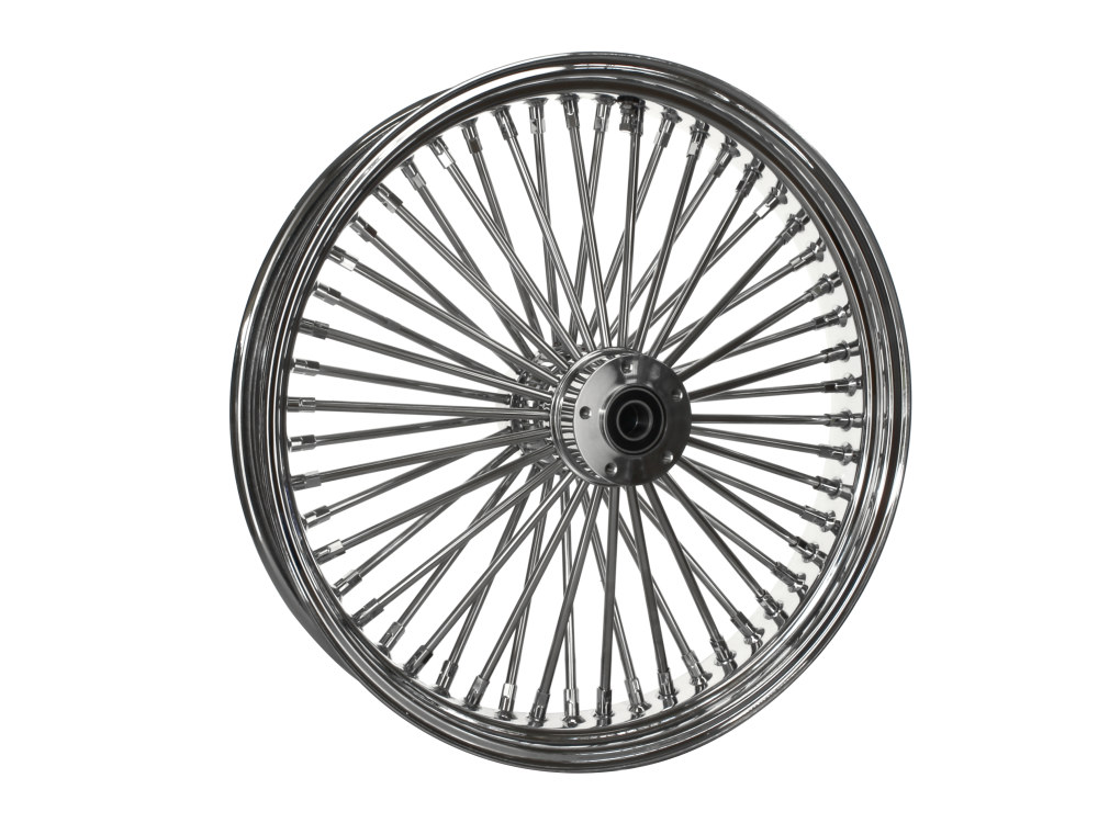21in. x 3.5in. Front Mammoth 52 Fat Spoke Wheel – Chrome. Fits Touring 2008up, Softail Fat Bob 2018up & Softail FXDR 2019-2020.