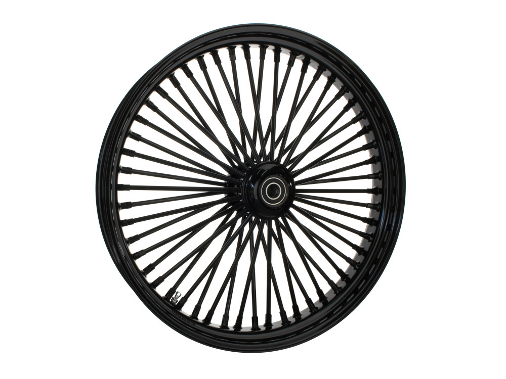 23in. x 3.5in. Front Mammoth 52 Fat Spoke Wheel – Gloss Black. Fits Mid Glide Dyna 2006-2017 & FX Softail 2018up.