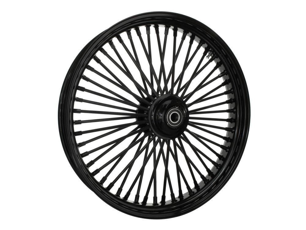 23in. x 3.5in. Front Mammoth 52 Fat Spoke Wheel – Gloss Black. Fits FL Softail 2011up.