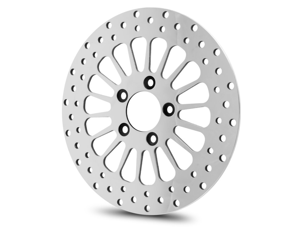 11.5in. Front Super Spoke SS2 Disc Rotor – Polished. Fits Big Twin & Sportster 2000up.