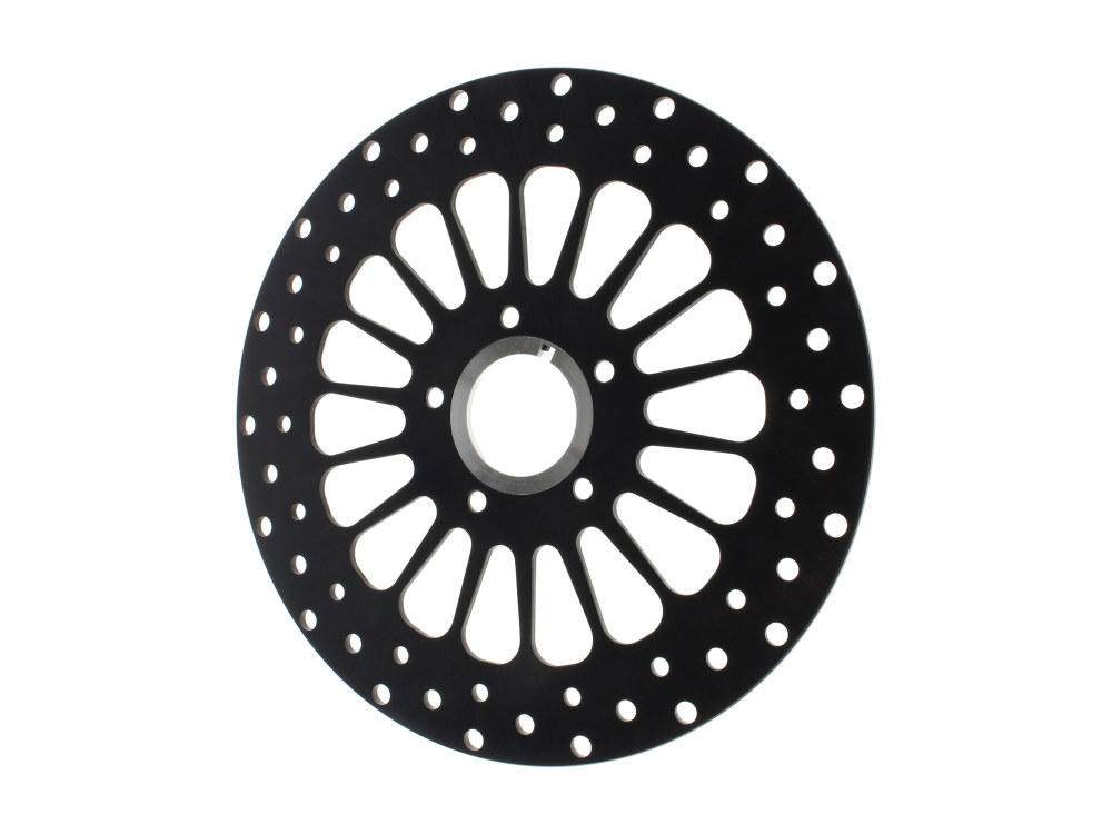 11.5in. Front Super Spoke SS2 Disc Rotor – Black. Fits Big Twin & Sportster 2000up.
