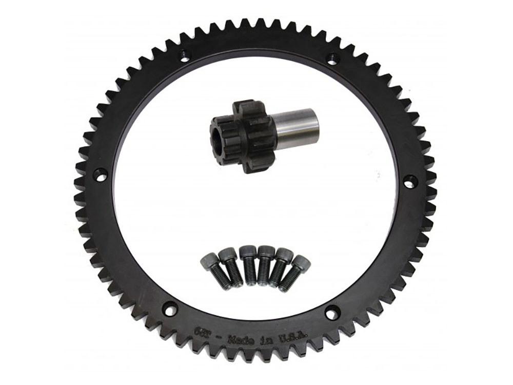 Starter Ring Gear Kit; Big Twin'94-97 66T(inc Pinion Gear)