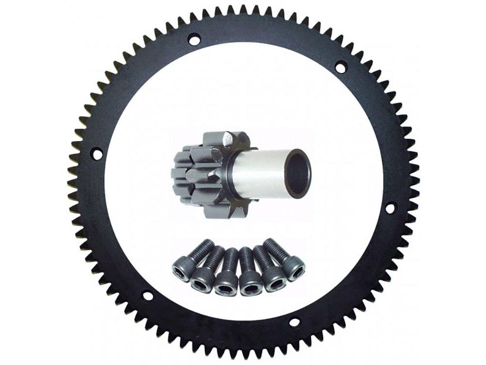 Starter Ring Gear Kit; Big Twin'90-93 84T(inc 10T Pinion Gear)
