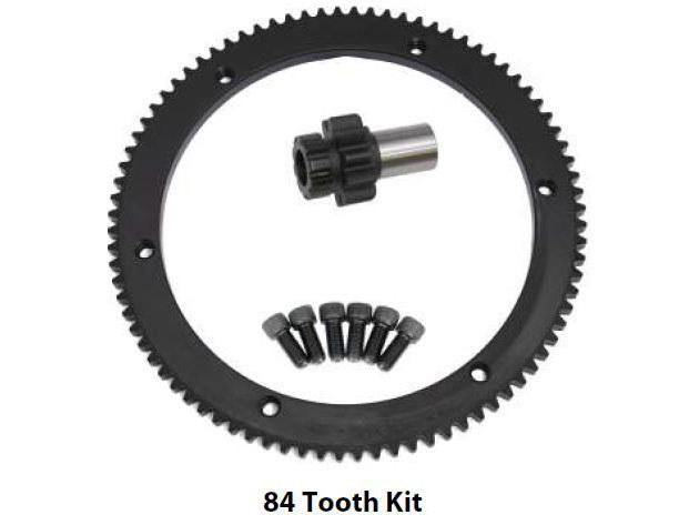 Starter Ring Gear Kit; Big Twin'94-97 84T(inc 10T Pinion Gear)