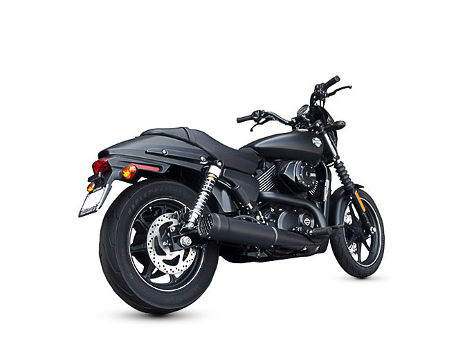 Grand Prix Slip-On Muffler with Black Finish. Fits Street 2015up.