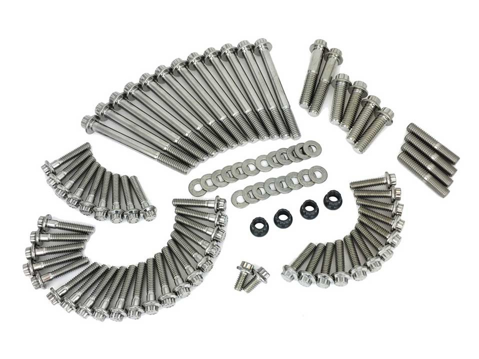 ARP 12 Point Engine Fastener Show Bike Kit. Fits M8 Touring 2017up.