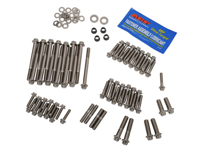 ARP 12 Point Engine Fastener Show Bike Kit. Fits M8 Softail 2018up.