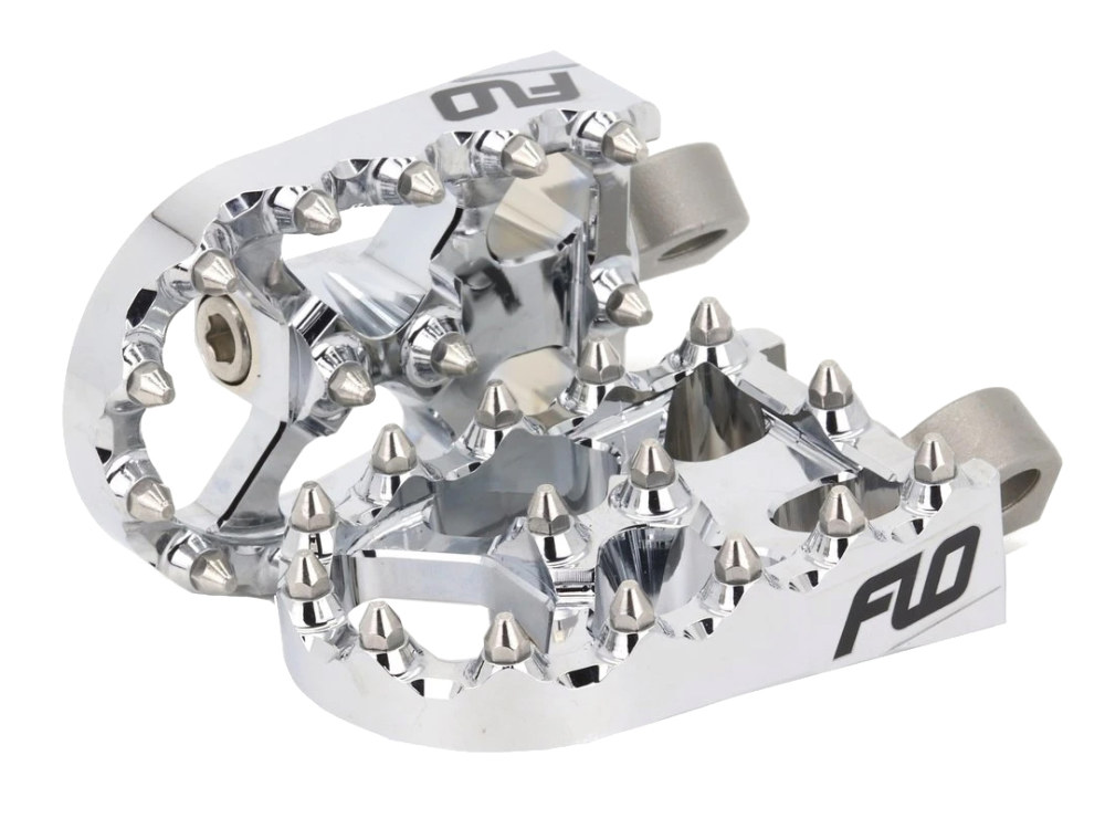 V2 MX Footpegs with HD Male Mount – Chrome.
