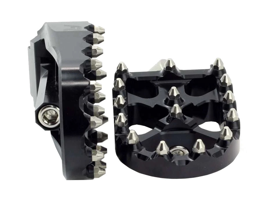 V3 MX Footpegs with HD Male Mount – Black.