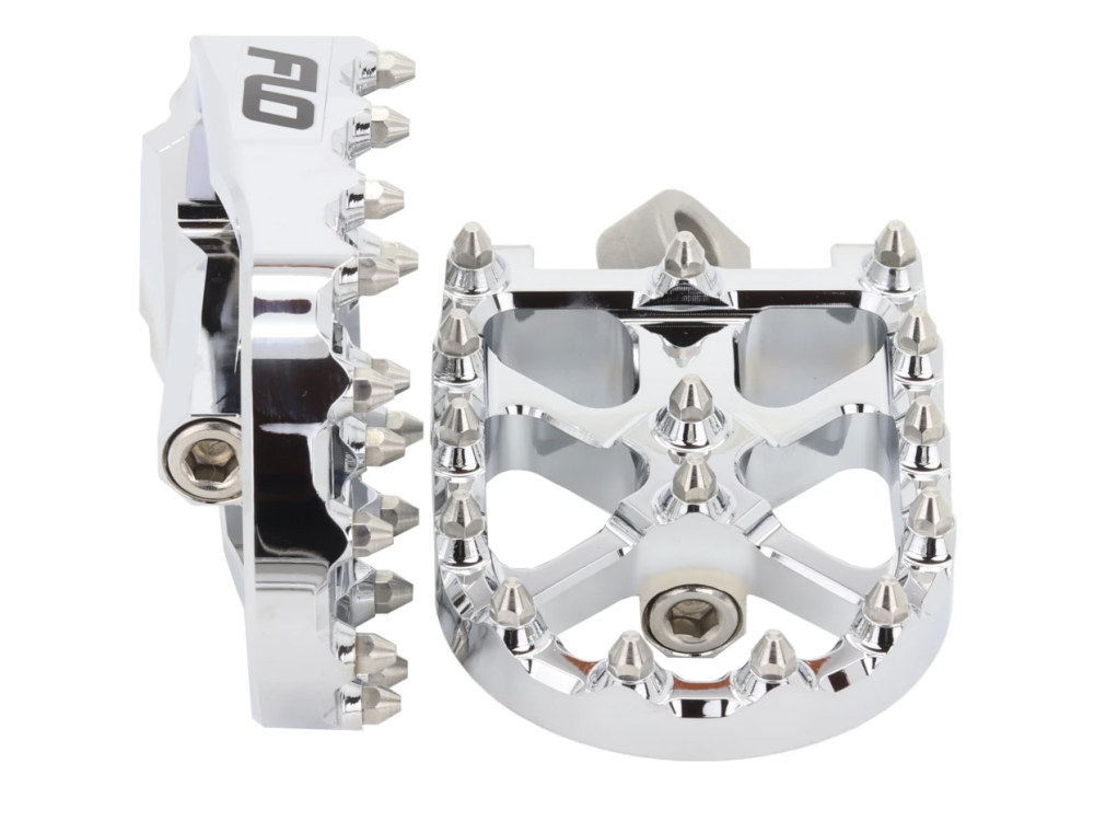 V3 MX Footpegs with HD Male Mount – Chrome.