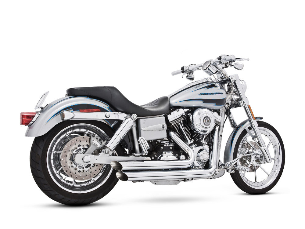 Amendment Exhaust - Chrome. Fits Dyna 1991-2005.