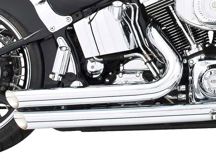 Amendment Exhaust - Chrome. Fits Softail 1986-2017.