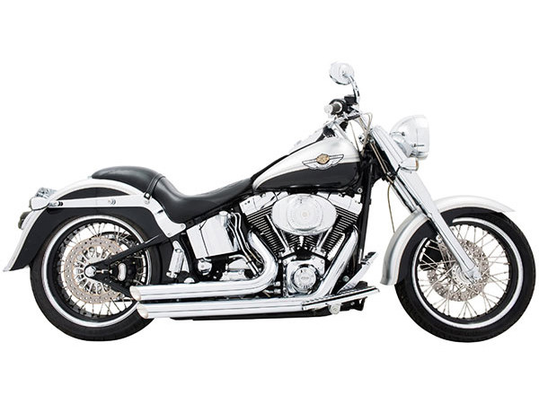 Amendment Exhaust with Chrome Finish. Fits Softail 1986-2017.