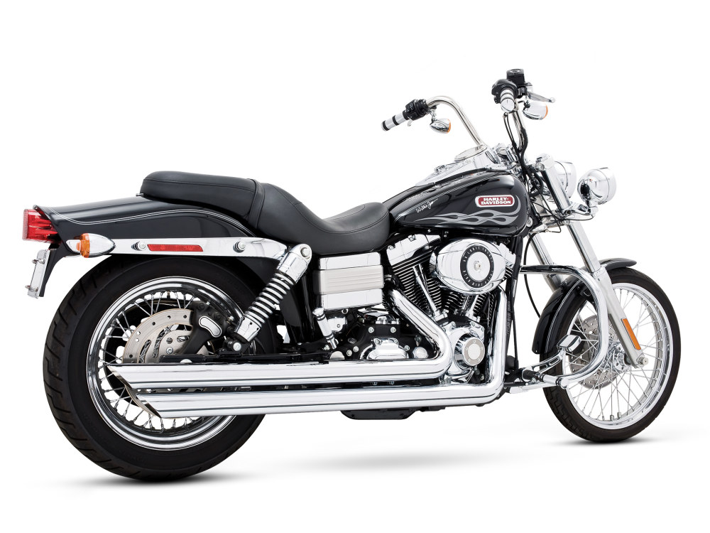 Patriot Long Exhaust with Chrome Finish. Fits Dyna 2006-2017.
