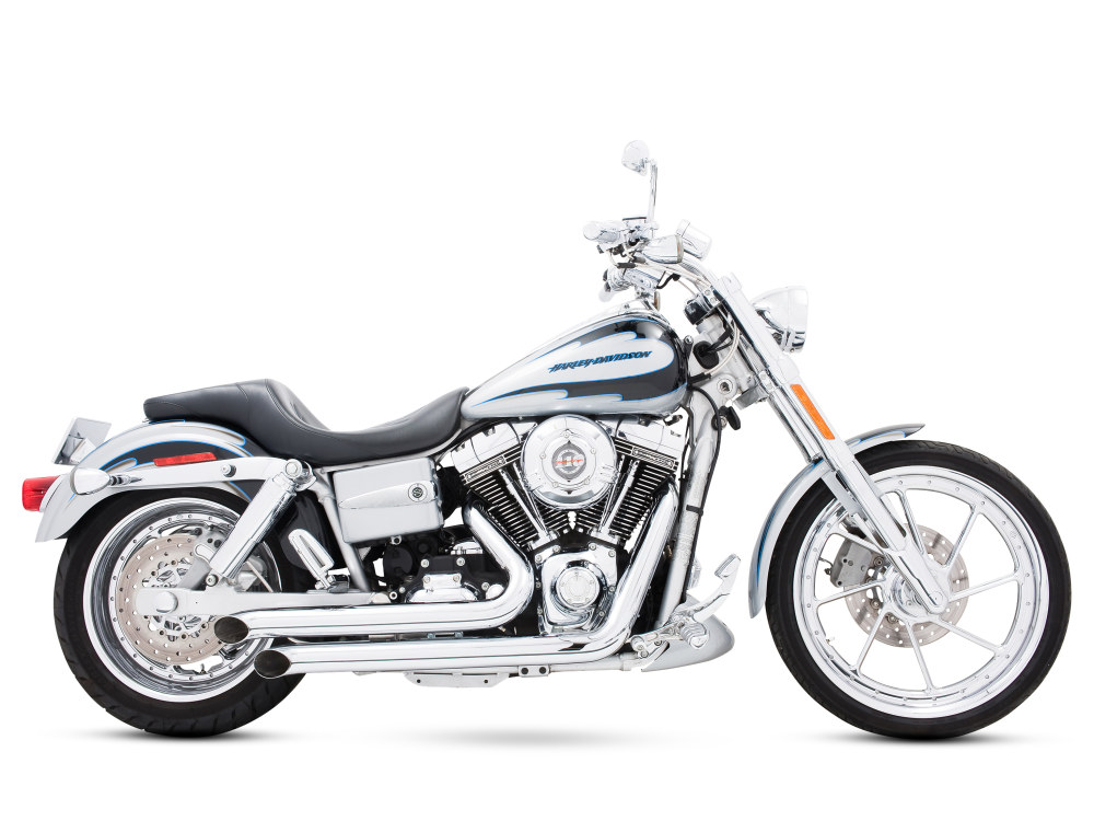 Declaration Turnouts Exhaust - Chrome. Fits Dyna 2006-2017.