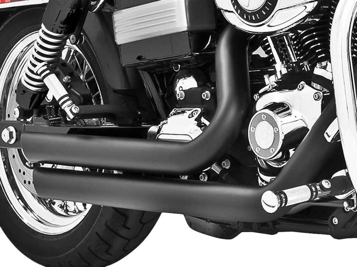 Amendment Exhaust with Black Finish. Fits Dyna 1991-2005.