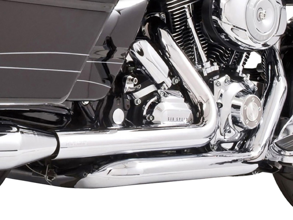 Right Side Tuck & Under Headers - Chrome. Fits Touring 2009-2016.