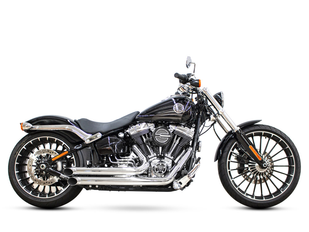 Declaration Turnouts Exhaust - Chrome. Fits Softail Breakout 2013-2017 & Rocker 2008-2011.
