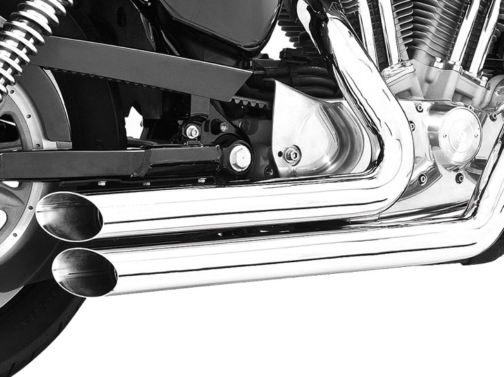 Amendment Exhaust - Chrome. Fits Sportster 2004up.