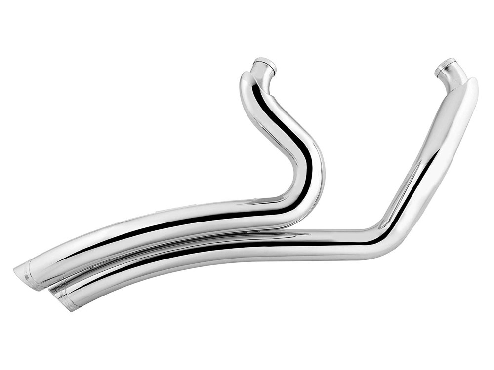 Sharp Curve Radius Exhaust with Chrome Finish & Chrome End Caps. Fits M8 Touring 2017up.