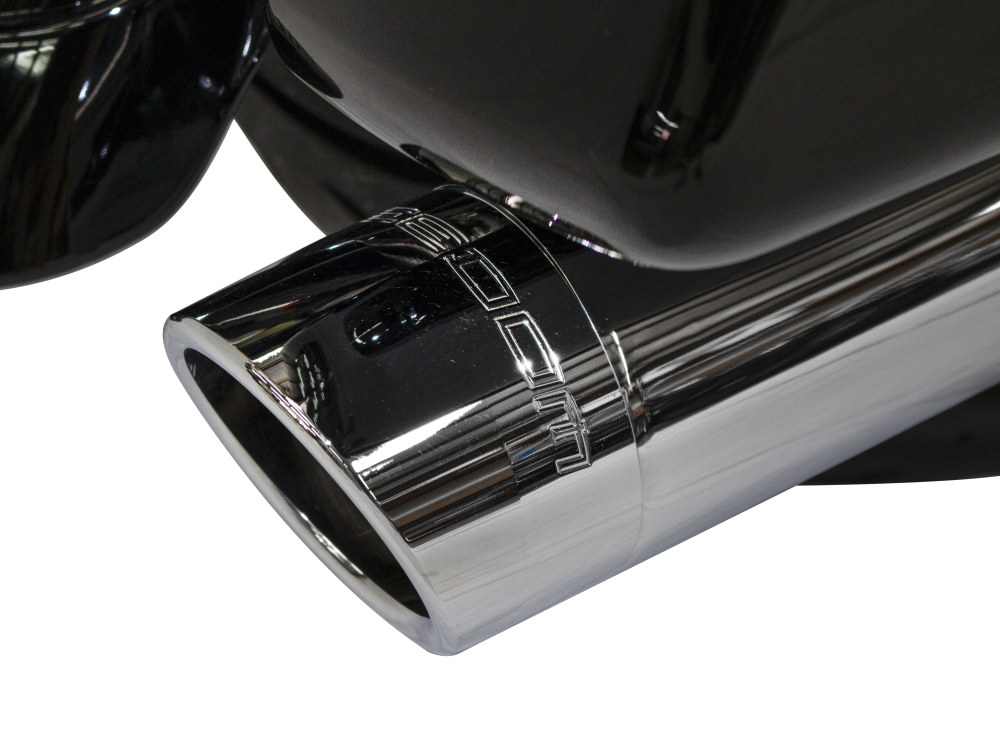 Union 2-into-1 Exhaust with Chrome Finish & 4