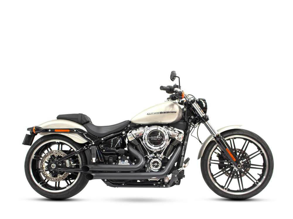 Declaration Turnouts Exhaust - Black. Fits Softail 2018up.