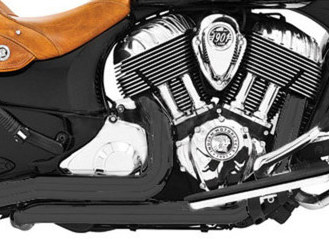 True Dual Headers with Black Finish. Fits Indian 2014up.