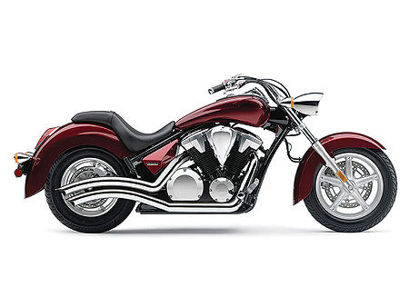 Sharp Curve Radius Exhaust with Chrome Finish. Fits Honda Fury State-Line, Interstate & Sabre 2010-2013 Models.