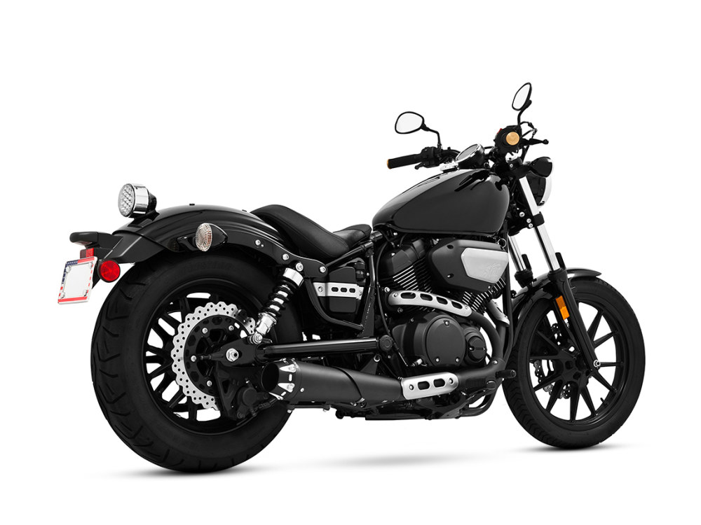 Outlaw Slip-On Muffler with Black Finish. Fits Yamaha Bolt 2013up.