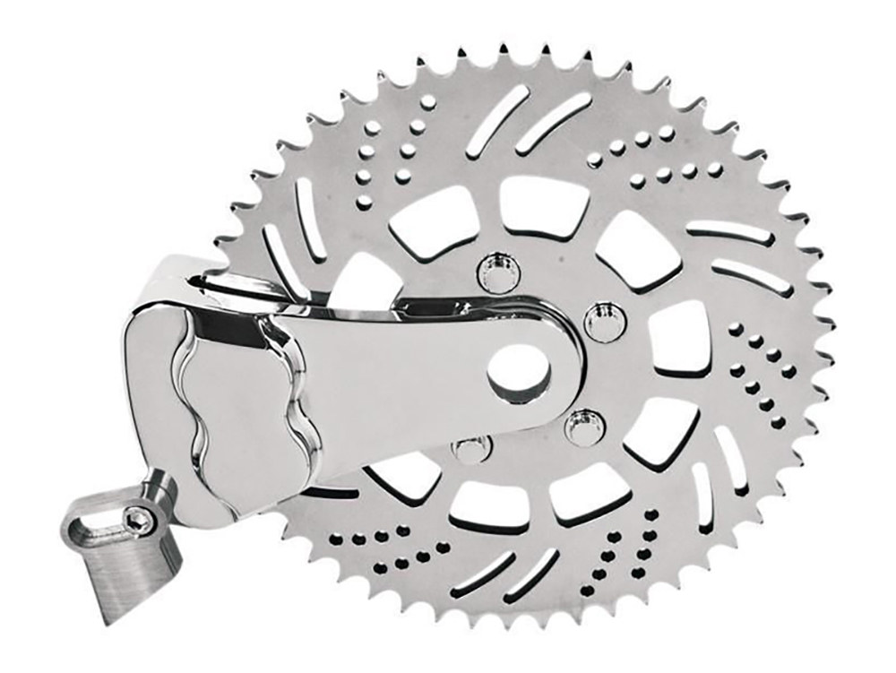 Right Side Drive 51 Teeth Sprotor Kit with 4 Piston In-Board Caliper & Chrome Finish.