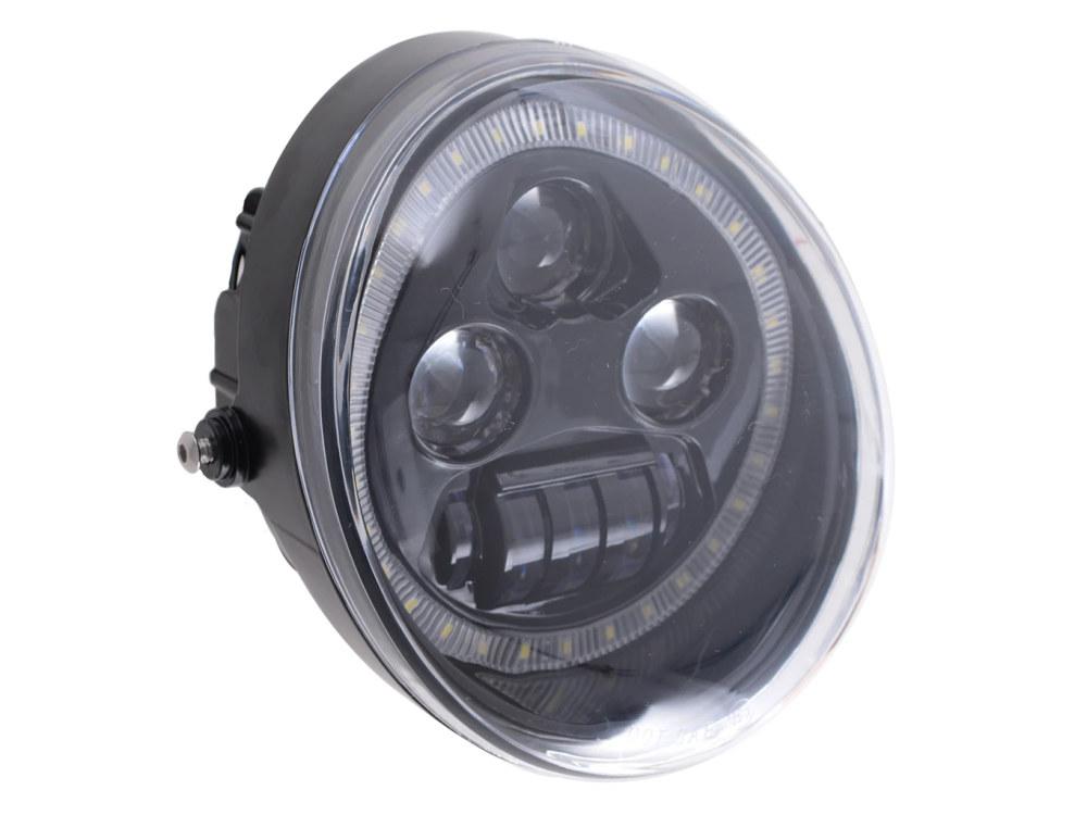 5-3/4in. LED HeadLight Insert with Halo – Black. Fits VRSCDX 2012-2017 & VRSCF 2002-2017.