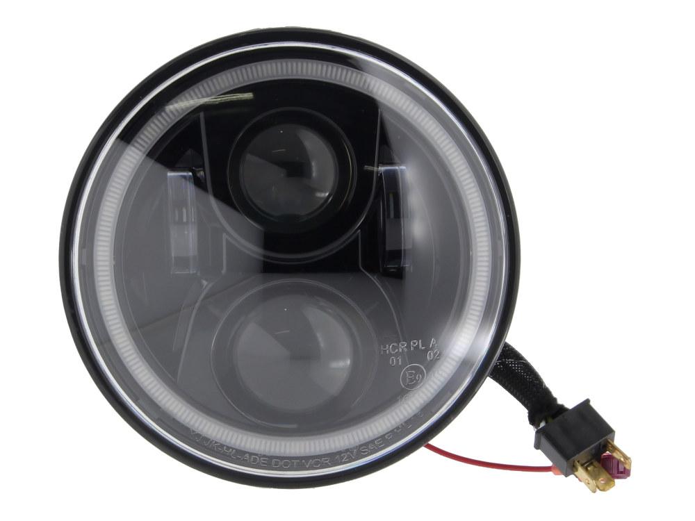 LED Headlight Insert – Black. Fits Most Kawasaki Vulcan 900/1500/1600/1700 & 2000.