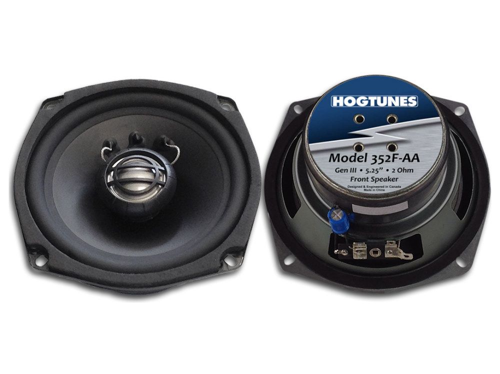 Hogtunes 5.25in. Front Speakers. Fits Touring 2006-2013.