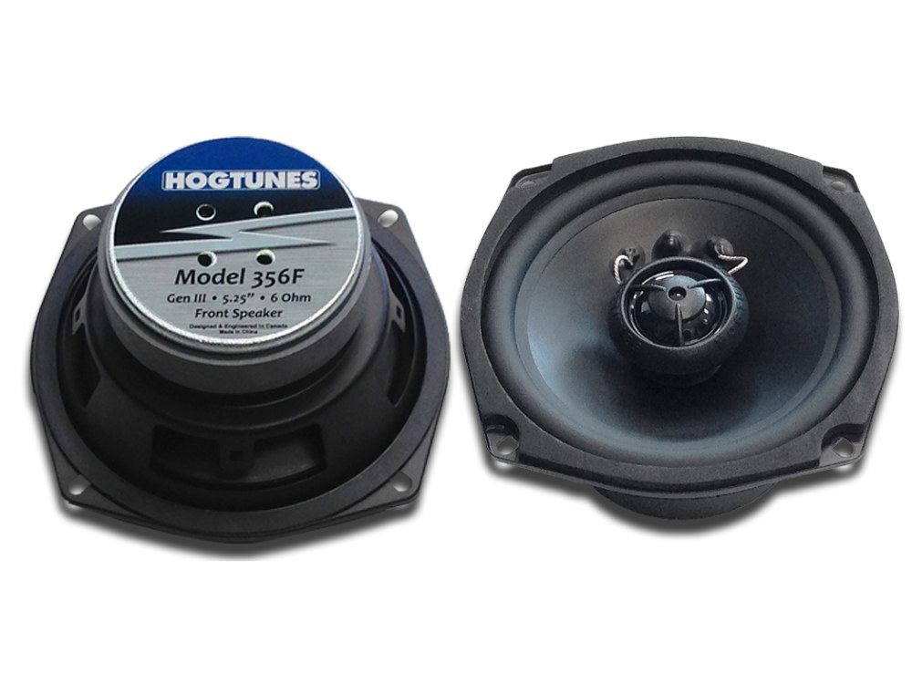 Hogtunes 5.25in. Front Speakers. Fits Touring 1998-2005.